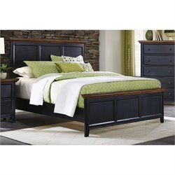 Coaster Mabel California King Panel Bed in Medium Oak and Black