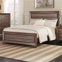 Coaster Kauffman Queen Panel Bed in Washed Taupe