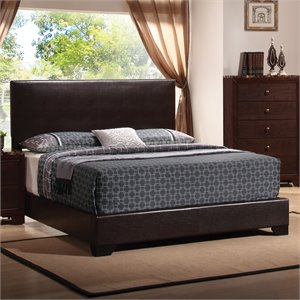 Coaster Conner California King Upholstered Platform Bed in Cappuccino