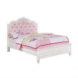 Coaster Caroline Diamond Tufted Bed in White