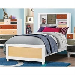 Coaster Lemoore Twin Bookcase Bed in White