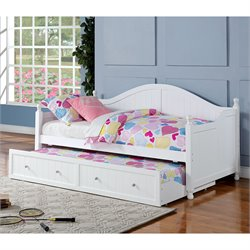 Coaster Daybed with Trundle in White