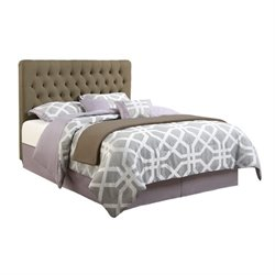 Coaster Chloe Upholstered Queen Bed in Burlap