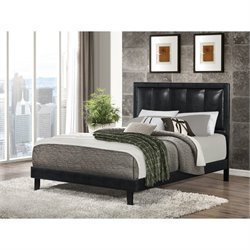 Coaster Granados Faux Leather Bed in Black 300404