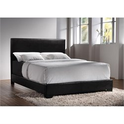 Coaster Conner Upholstered Platform Bed in Black 300260