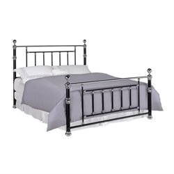 Coaster Poster King Bed in Black and Chrome