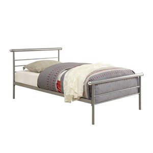Coaster Shelton Iron Bed in Silver 300181