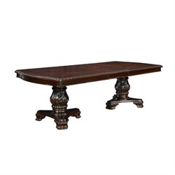 Coaster Valentina Dining Table with Leaf in Dark Cherry