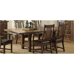 Coaster Padima Dining Table with Leaf in Rustic Cognac