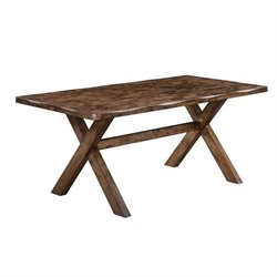 Coaster Alston Dining Table in Knotty Nutmeg