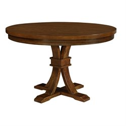 Coaster Abrams Round Dining Table in Truffle