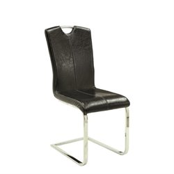 Coaster Bloomfield Faux Leather Dining Chair in Black