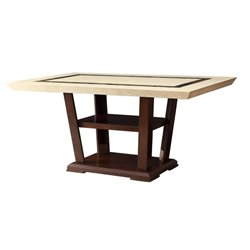 Coaster Lacombe Dining Table in Cappuccino