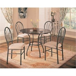Coaster Halle 5 Piece Dining Set in Brown