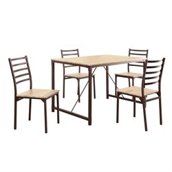 Coaster 5 Piece Dining Set in Bronze