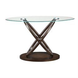 Coaster Glass Top Console Table in Espresso