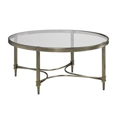 Coaster Glass Top Oval Coffee Table in Bronze