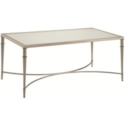 Coaster Glass Top Coffee Table in Nickel
