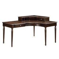 Coaster Jacqueline Corner Desk with Hutch in Brown