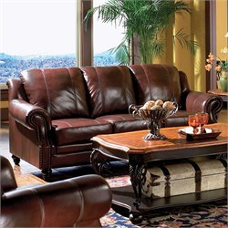 Coaster Furniture Tri-tone Top Grain Leather Sofa