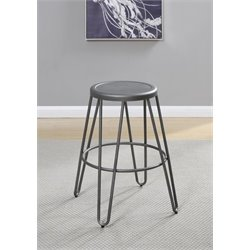 Coaster Galway Bar Stool in Gunmetal