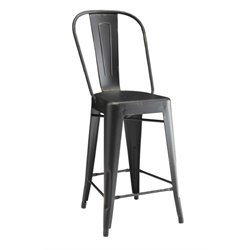 Coaster Metal Counter Stool in Black