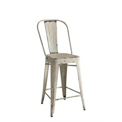 Coaster Metal Counter Stool in White