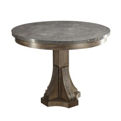 Coaster Willowbrook Round Dining Table in Chinese Ash