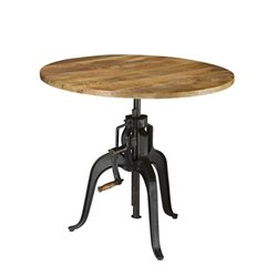 Coaster Galway Round Adjustable Dining Table in Natural