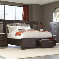 Coaster Berkshire Queen Bed with Storage Footboard in Bitter Chocolate