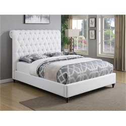 Coaster Devon Upholstered Bed in White