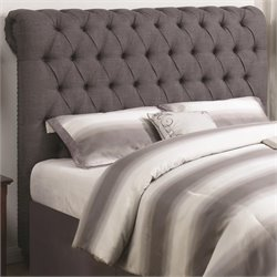 Coaster Button Tuft Headboard in Dark Brown 1