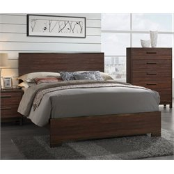 MER1219 Coaster Edmonton Bed in Rustic Tobacco and Dark Bronze