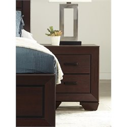 Coaster Fenbrook 2 Drawer Nightstand in Dark Cocoa