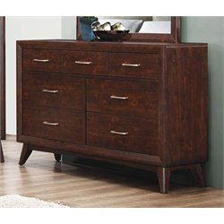 Coaster Carrington 7 Drawer Dresser in Coffee