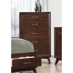 Coaster Carrington 5 Drawer Chest in Coffee