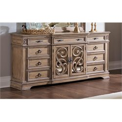 Coaster Ilana 9 Drawer Dresser in Antique Linen