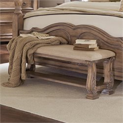 Coaster Ilana Upholstered Bedroom Bench in Cream