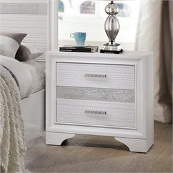 Coaster Miranda 2 Drawer Nightstand in White