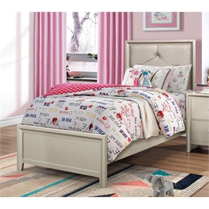 MER1219 Coaster Lana Upholstered Bed in Silver