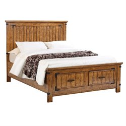 MER1219 Coaster Brenner Storage Panel Bed in Natural and Honey