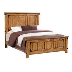 MER1219 Coaster Brenner Panel Bed in Natural and Honey