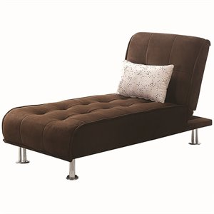 Coaster Convertible Chaise Lounge in Brown