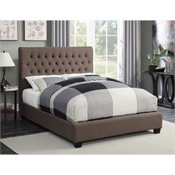MER1219 Coaster Tufted Bed in Dark Brown