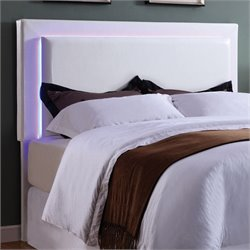 MER1219 Coaster LED Lights Headboard in White