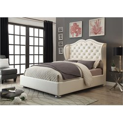 MER1219 Coaster Wingback Bed in White
