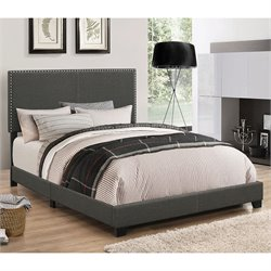 MER1219 Coaster Nailhead Trim Bed in Espresso