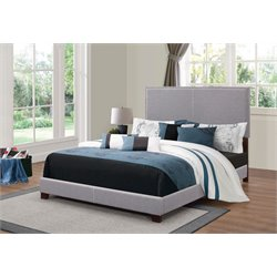 MER1219 Coaster Nailhead Trim Bed in Smoke