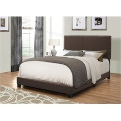 MER1219 Coaster Nailhead Trim Bed in Beluga
