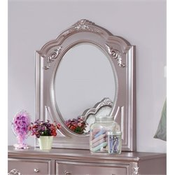 Coaster Caroline Oval Mirror in Metallic Lilac